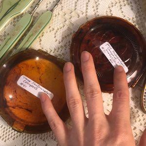 Vintage Makeup - Faux Tortious Shell Compact Vintage You Pick!